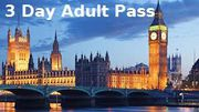 Travel:London Pre Paid Site Seeing Pass (Adult 3 Day Pass)