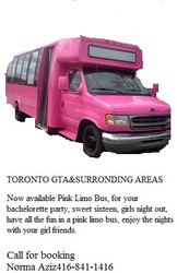 Only Pink Bus in Toronto GTA and surronding areas