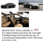 Brand New Tesla 2015 for your 3 Passenger transportation